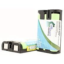2x Pack - HHR-P107 Battery for Panasonic KX-TGA600B, KX-TGA510M, PQSUHGLA1ZA, KX-TG6021M Cordless Phones (700mAh, 3.6V, NI-MH)
