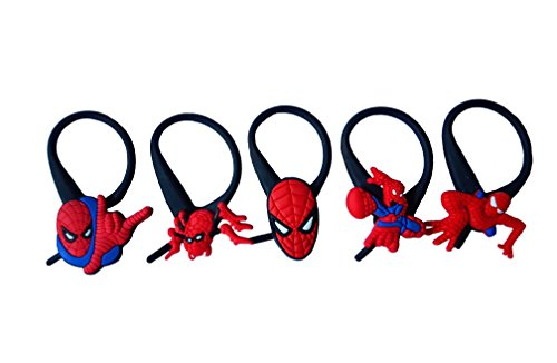 Shocker Spider Man Costume (AVIRGO 5 pcs Soft Zipper Pull Charms for Jacket Backpack Bag Pendant Set # 121 - 3)