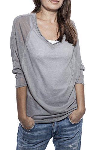 Ella Manue Women Batwing Sleeves Shirt Camiseta para Mujer Adrien Grey