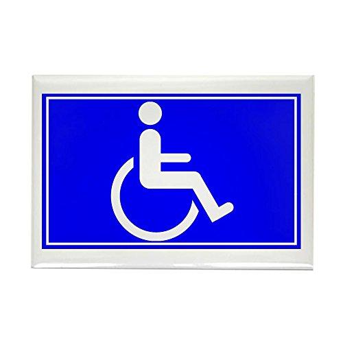 CafePress - Handicapped Sign - Rectangle Magnet, 2