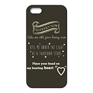 High Quality Customizable Durable Rubber Material Ed Sheeran Lyrics Quotes iPhone 5 5S Back Cover Case
