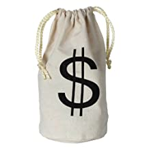 Beistle 57911 Bag with Dollar Sign, 8-1/2-Inch by 6-1/2-Inch