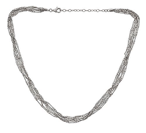 16' Cuban Link Chain (Sterling Silver Rhodium 9.00mm Fancy Diamond Cut Tube Necklace 16'' with 2