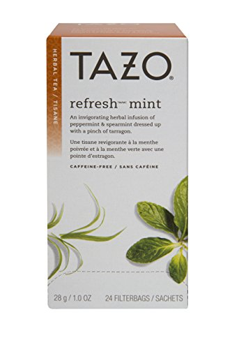Tazo Refresh Mint Filter Bag Tea, 20-Count Packages (Pack of 6) -