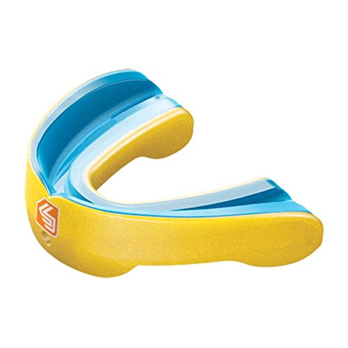 Shock Doctor Nano 3D Convertible Mouthguard (Pearl Yellow, (Shock Doctor Gel Nano)