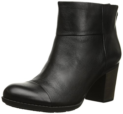 Clarks Women's Enfield Tess Boot, Black Smooth Leather, 7.5 M US