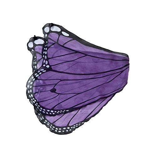 [Fanciful Fabric Butterfly Wings, in Purple] (Dress Up Fairy Wings)