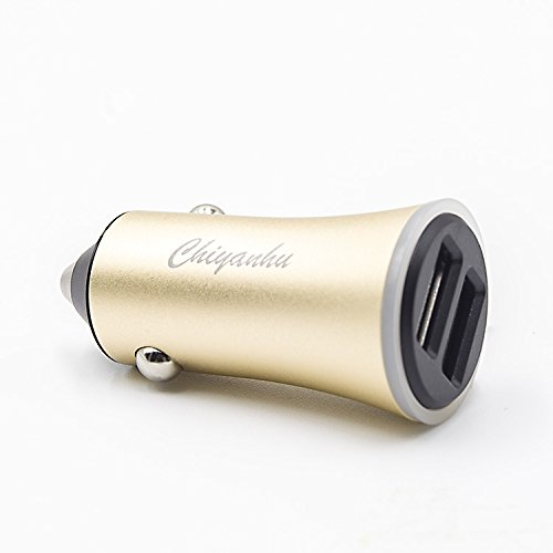USB Car Charger Chiyanhu 24W 3.4A Metal Dual Car Adapter for S9/S8/S7/S6/Edge/Plus, Note 5/4, LG, Nexus, HTC with iSmart 2.0 Tech - Gold by TZF (Image #7)