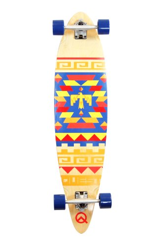 Quest Tribes Pin Kick Tail Longboard Skateboard, 40-Inch