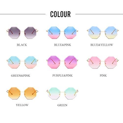 d82373d3f5 Zhhlaixing Gafas de Sol para Mujer Diseñador de Vendimia, Lentes Especiales  para Corte Irregular Sun