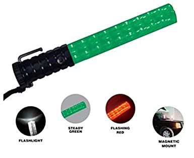 Police security crossing guard officer green red led baton wand police security crossing guard officer green red led baton wand flashlight light aloadofball Choice Image