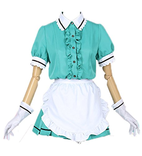 Nuoqi Blend-S Anime Uniforms Cosplay Costumes (Large, Green-Hideri Kanzaki)