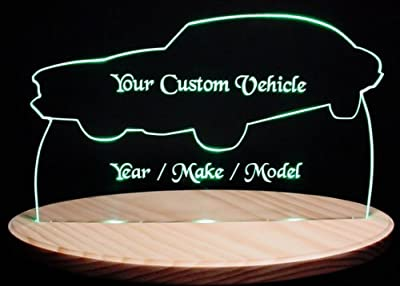 1968 Charger Acrylic Lighted Edge Lit LED Sign / Light Up Plaque 68 VVD2