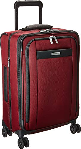 Nylon Tri Fold Carry On - Briggs & Riley Transcend Tall Carry-On Expandable Spinner (Merlot)