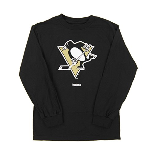 Reebok Penguins (Reebok NHL Pittsburgh Penguins Men's Jersey Crest Long Sleeve Tee, XX-Large, Black)
