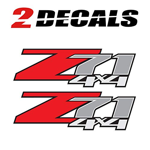 TiresFX 2009 Chevrolet Silverado Z71 4x4 (Set of 2 Decals) - F - 1500 2500 HD Stickers