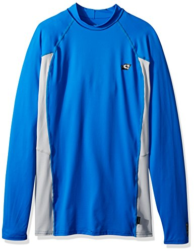 O'Neill Men's Premium Skins Upf 50+ Long Sleeve Rash Guard, Ocean/CoolGrey, 3X-Large by O'Neill