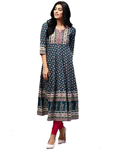 Dream Angel Fashion Womens Tunic Top to Wear with Leggings Kurta Kurtis Indian Party Wear (Green, - Kurta Designer Salwar
