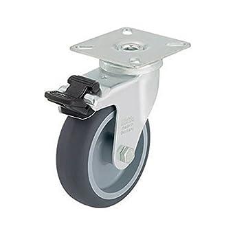 Tap 0004718 rueda para cámara de A. platino, giratoria con freno, 50 mm
