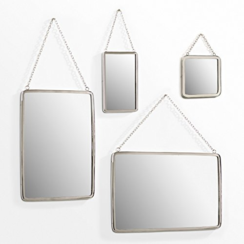 La Redoute Barbier Rectangular Mirror, Width 50 X Height 37Cm Other Size One Size by La Redoute