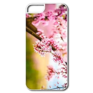 IPhone 5S Cases, Pink Flower White Covers For IPhone 5 5S wangjiang maoyi