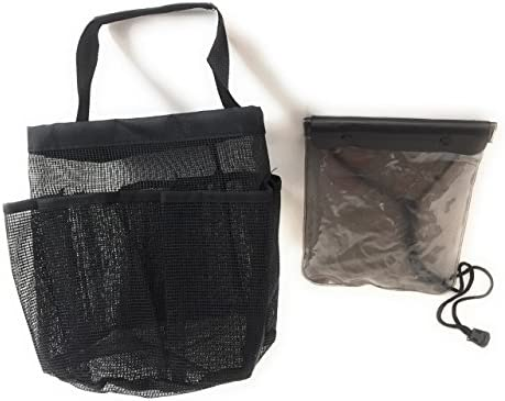 Amazon.com: Black Mesh Shower Caddy & Waterproof Bag the ideal ...