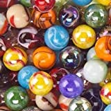 Mega Marbles SET OF 12 ASSORTED 0.625'' (approx) SHOOTER MARBLES