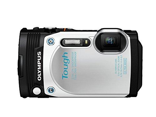 Olympus TG-870 Tough Waterproof Digital Camera (White)