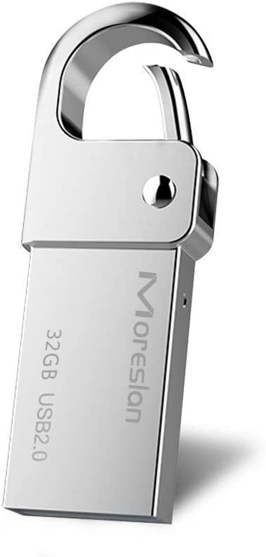 32GB Waterproof USB Flash Drive Moreslan Aluminum Memory Stick USB Drive Pen Drive High Speed Card Reader for Computers Tablets and Other USB Devices Silver