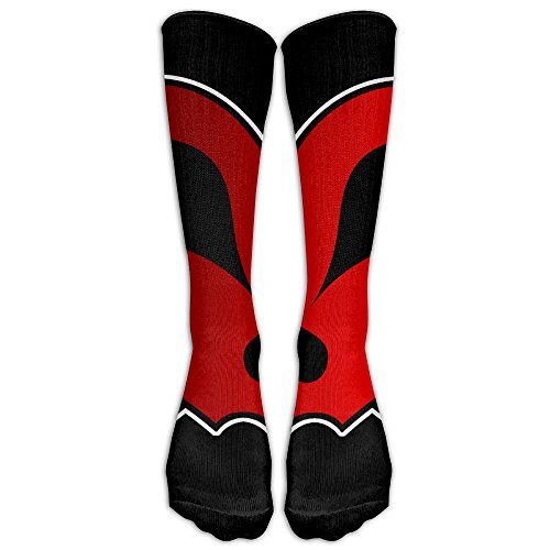 Knit Crossbones (PHCDGDD Skull And Crossbones Graduated Compression Socks For Men & Women Best Stockings For Nurses, Travel, Running, Maternity Pregnancy)