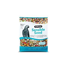 ZuPreem Sensible Seed Bird Food for Parrots & Conures – Premium Blend of Seeds, FruitBlend Pellets for Caiques, African…