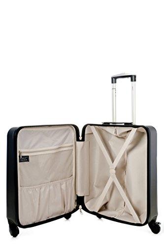 Aerolite Cabina British Airways Maleta 4 Embalaje Rígida 56x45x25 Con Iberia Ruedas Máximo Trolley Mano Tamaño Cubo Jet2 46l De Equipaje Ligera carbón Easyjet YY6rq