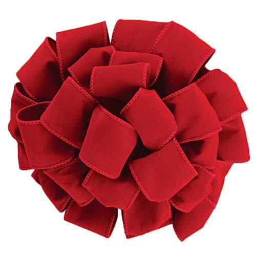 Wired Red Velvet Christmas Ribbon 2 1/2 #40 - 50 Yards
