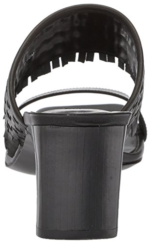 Nine West Women's Nirveli Leather Slide Sandal Black Leather gQ579