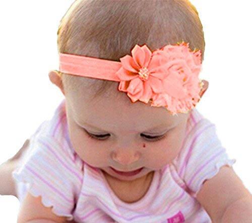 Élastique Rhinestone Girl Baby Akaayuko Fleur Bandeau 1 Pêche Pc wpqXnRvF4