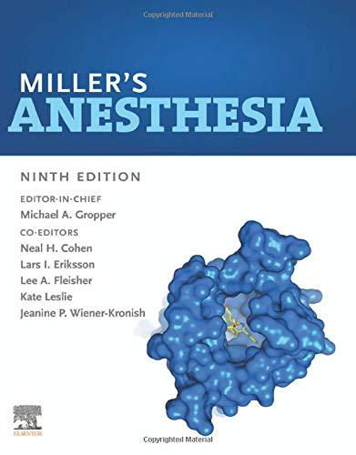 Miller's Anesthesia 2 Volume Set