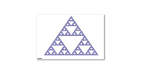Póster de: en forma de triángulo y avión FRACTAL iterativos junta ...