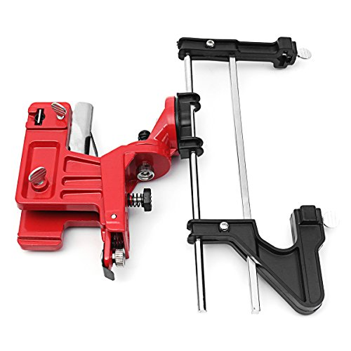 Hitommy Manual Chain Saw Sharpener Grinder Bar Mounted Filing Clamp Tools Kit