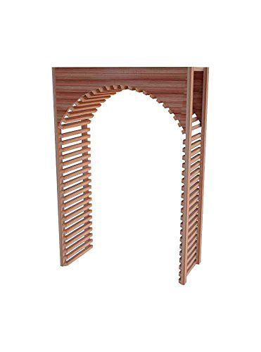 Wine Cellar Innovations DAH-LI-ARCH2_LAQG1-A3 Designer Series Archway 2 Wine Rack, Allheart Redwood, With Lacquer Finish, Light Stain
