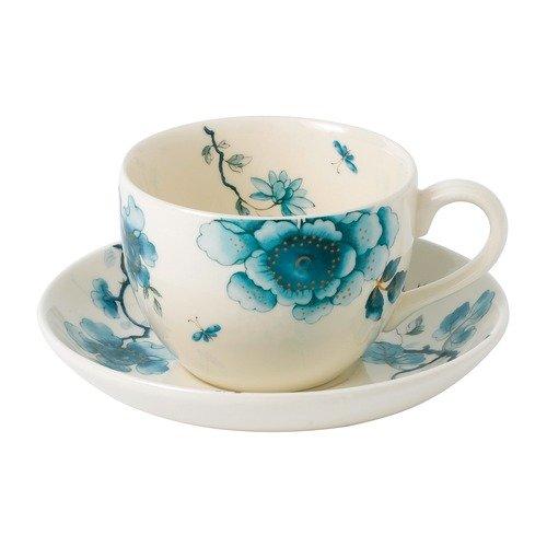 Wedgwood Blue Bird Teacup and Saucer Set, Multicolor