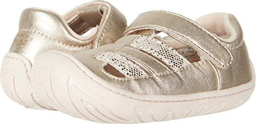 UGG Girls T Santore Sparkles First Walker Shoe, Gold, 7 M US Toddler
