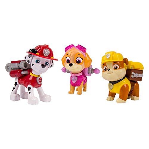 Paw Patrol Action Pack Pup Marshall, Skye, Rubble