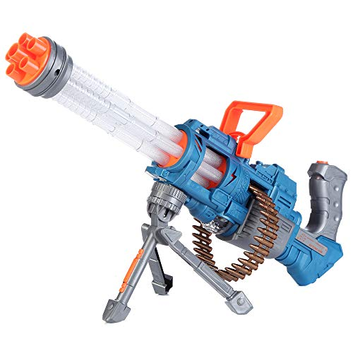 Fun Central BC988, 1 Pc 19.5 Inch LED Gatling Gun, Light Up Toy Gun, Toy Machine Gun for Kids, Flashing Toy Gun for Role-Playing Games, Pretend Play, and Battle Gameplay