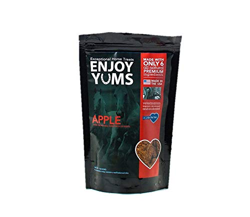 Enjoy Yums Horse Treats, Apple Flavor, 1 Pound Bag