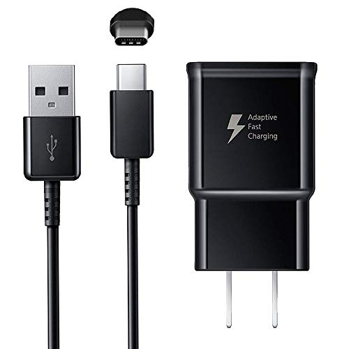 Samsung Galaxy Fast Charger, Adaptive Fast Charging Wall Charger Plug with USB Type C Cable Replacement for Samsung Galaxy S9 S9 Plus S8 S8 Plus S10 S10+ Plus Note 9 Note 8, Fast Charger for Samsung