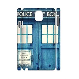 E-Isam Diy samsung galaxy note 3 N9000 case Doctor Who TARDIS Police Call Box,customized Hard Plastic case