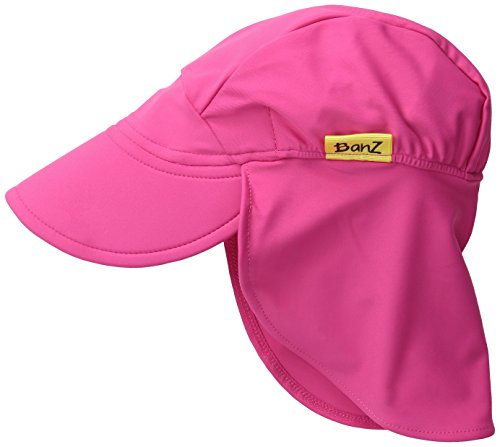 Baby Banz Baby Girls' Banz Flap Hat, Coolgardie Pink, Small