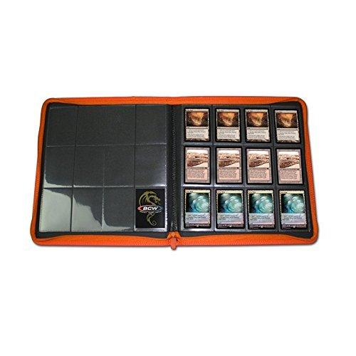 2 BCW Z-Folio LX Zipper Portfolio Orange 12 Pocket Playset Album