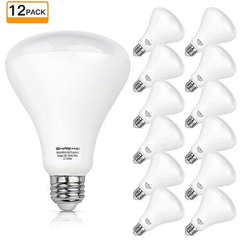 SHINE HAI Flood Light Bulbs Indoor, 65W Equivalent BR30 LED Bulb 4000K Daylight White, 650 Lumens E26 Medium Base Non-dimmable LED Light Bulbs, 12 Pack