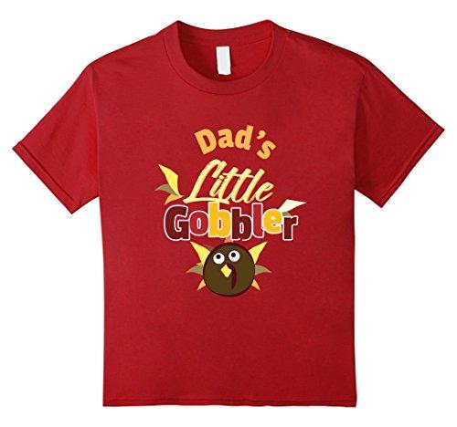 Kids Dads Little Gobbler Cute Thanksgiving Day Wild Turkey 4 Cranberry